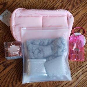 4 pc set of beauty essentials headband makeup nail